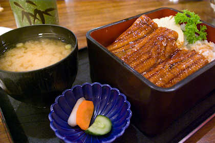 ... KUMA, as usual, had her dossage of unagi set meal.
