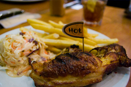 ... my hot peri-peri 1/4 chicken with 2 sidelines.