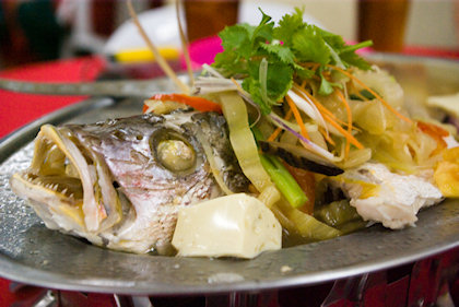 ... Teochew style red snapper. Still not sour enough.