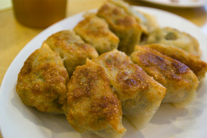... LGFL ordered these gao zi (餃子), but I can't eat due to my strict diet.