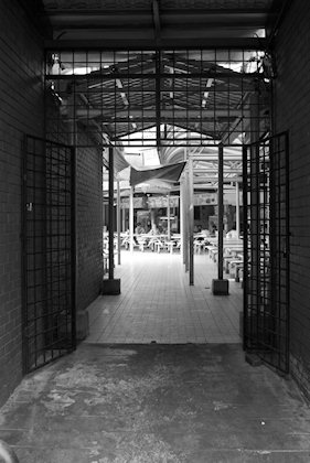 ... entrance to Medan Selera from the market's side.