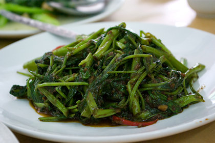 ... water spinach in belacan.