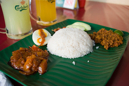 ... nasi lemak with minced pork, as recommended by ALGJ.