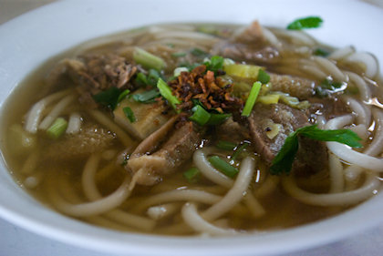 ... the specialty of the stall was dried beef noodle, instead of the soup one though.